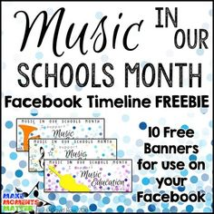 Music In Our Schools Month (MIOSM) Facebook Timeline Freebie!  Need a fun banner for your Facebook page this March?  cehck out this freebie!