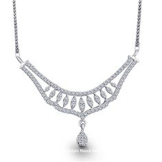 Mesermizing Diamond Tanmaniya. Modernistic and gorgeous mangalsutra in diamond, perfect for everyday office wear........! - See more at: http://www.diamonds4you.com/item/21408164.aspx#sthash.lnC6F6Ge.dpuf. #diamonds #necklace #pendants #jewellery #diamonds4you #Onlinejewellery