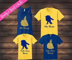 Beauty and Beast Family Shirts Matching Family Shirts - Family Shirts - Ideas of Family Shirts Family Vacation Shirts, Disney Vacation Shirts, Disney Shirts For Family, Disney Vacations, Disney Trips, Disney Family Quotes, The Beast, Enchanted Rose, Disney Diy