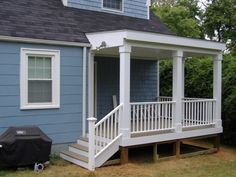 Image detail for -Back Porch w/deck and handrail/stair picture by bigdogjsb ...