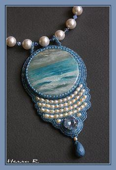 "Gallery.ru / Photo # 2 - Pendant ""Ocean"" - Beady09"
