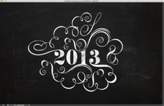 Easy Chalk Ornament Typography in Photoshop