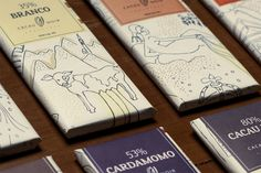 Cacau Noir Chocolate Bars by Studio Fernanda Schmidt , via Behance