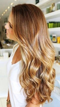 Caramel blonde hair