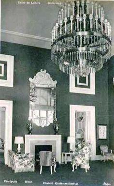 Hotel Cassino Quitandinha - Ambientes internos decorados por Dorothy Draper