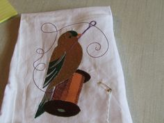 Goldfinch on Threadspool by AWondrousPlace on Etsy