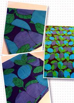Colorful 60s swedish vintage mod vintage fabric. by Inspiria, $38.00