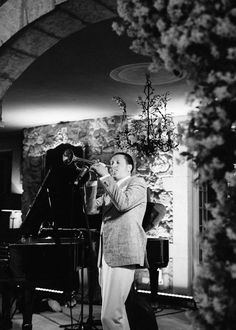 """The Brian Newman Band played jazz standards by Frank Sinatra and Billie Holiday as well as some of their originals, including """"Take Me Back to Brooklyn,"""" during the reception."""