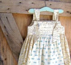 Children's Clothing  Shabby Chic Apron Dress  Sizes by CoralBelles, $52.00
