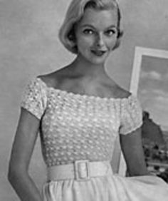 Vintage top free crochet pattern