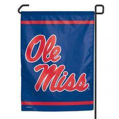 """Mississippi Rebels 11""""x15"""" Garden Flag"""
