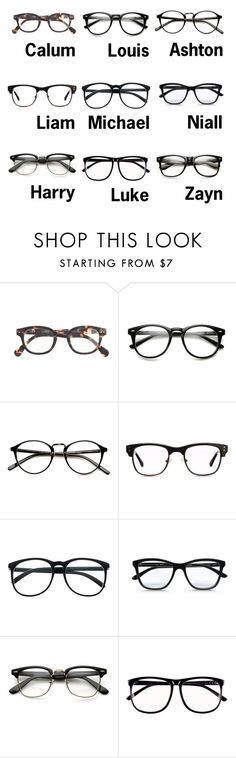 """""""1D/5SOS Preferences: His Favorite Glasses of Yours"""" by kite200416 ❤ liked on Polyvore featuring J.Crew, GlassesUSA, Retrò, STELLA McCARTNEY and H&M"""