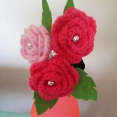 Toka crochet örgü keçe