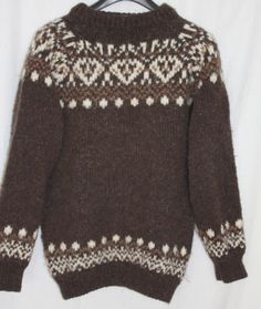 Iconic Icelandic wool sweater shaggy thick warm by PitzicatVintage, $48.00
