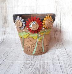 Clay Jar, Planter Pots, Etsy, Creative, Mud, Porcelain Ceramics, Handmade Pottery, Craft Gifts, Schmuck