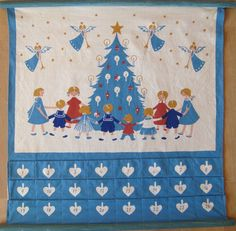danish christmas | Vintage Danish Christmas Calendar | Danish Christmas