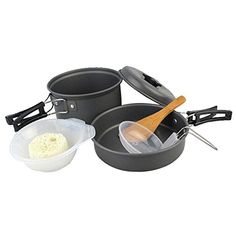 Introducing dipshop 8pcsSet Portable Cooking Pot Set Outdoor Camping Hiking Cookware Backpacking Utensils 12 People Picnic Bowl Pot Pan Set. Great product and follow us for more updates!