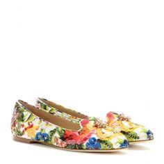 Verzierte Brokat-Slippers Vally ∇ Dolce & Gabbana ¦ mytheresa.com