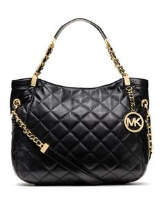 MICHAEL Michael Kors  Medium Susannah Quilted Shoulder Bag.