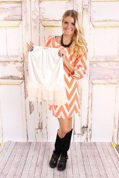 Cream Lace Long Skirt Extender - Modern Vintage Boutique
