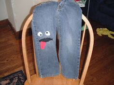 Simply aDarable: fix a hole in the knee of kids jeans