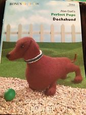 RARE KNITTING PATTERN Alan Dart Dachshund Dog Toy Doll ORIGINAL 2044 Alan Dart, Dachshund Dog, Dog Toys, Sewing Crafts, Knitting Patterns, Dolls, Pets, Baby Dolls, Knit Patterns