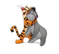 Winnie the Pooh, tigger, eeyore, piglet. Eeyore, Tigger And Pooh, Winne The Pooh, Winnie The Pooh Quotes, Pooh Bear, Disney Winnie The Pooh, Tigger Disney, Walt Disney, Disney Love