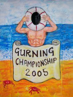 """Custom Design """"Gurning"""" Board"""