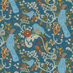 Studio e Family Tree -Lead Birds and Scrolls in Blue -