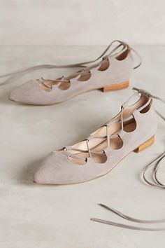 Billy Ella Lace-Up Flats - anthropologie.com
