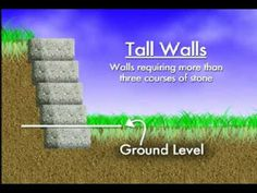 Video-How to Build a Retaining Wall wish I had shown this to hubby before I let him give an opinion.                                                                                                                                                                                 More