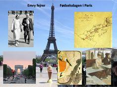 """Lørdag d. 2. september opnåede jeg så at holde fødselsdag i Paris. Ellers plejer det at være Ruth, der fejrer sin fødselsdag på de mærkværdigste steder, i Wales eller på de norske fjelde. Denne gang var det altså min tur. Det var jo en glæde at få hilsener fra alle vore børn med: Alt vel! Samt lykønskning. Sådan beskriver Emry Kølster – Marias Morfar - i sine erindringer """"Minder gennem småt halvfjerdsindtyve år"""" sin 69 års fødselsdag i 1950."""