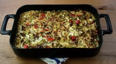 Cabbage casserole. Made this for dinner tonight. It's amazing!  Added sliced mushrooms and zucchini to the veggies b/c I had them and used roasted red peppers instead of fresh b/c I didn't and it was awesome.  Next time I will double the rice to 1/2 cup.  Winning recipe.  Great as a main dish.