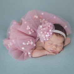 Coming home newborn outfit, tutu and headband set in pastel colors,dusty rose baby girl tulle skirt,