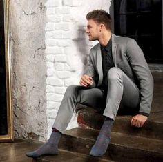I removed my shoes. get down on your knees. Mens Leotard, Smart Attire, Sheer Socks, Mens Tights, Men Photography, Black Socks, Patterned Socks, Dapper Men, Dress Socks