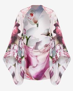 Ethereal Posie cape scarf - Nude Pink | Scarves | Ted Baker
