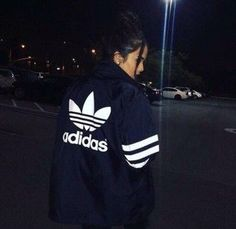 jacket blue tumblr trendy adidas