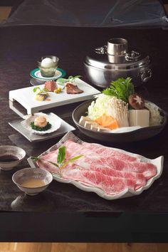 神戸牛のシャブシャブ鍋