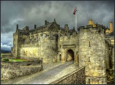 Stirling Castle located in Stirling, Scotland,  is one of the largest and most important castles, both historically and architecturally, in Scotland.  Several Scottish Kings and Queens have been crowned at Stirling Castle, including Mary, Queen of Scots, in 1543. There have been at least eight sieges of Stirling Castle, including several during the Wars of Scottish Independence, with the last being in 1746, when Bonnie Prince Charlie unsuccessfully tried to take the castle.