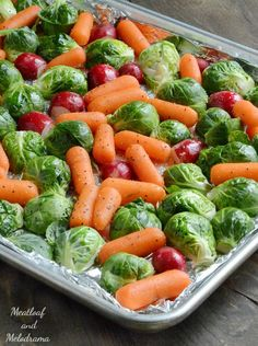 Easy Sheet Pan Roasted Veggies are the perfect light and healthy side dish for holidays or any occasion and take only 30 minutes to make!