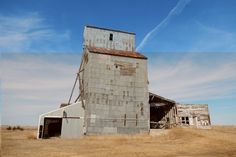 Although grain is still plenty in the Great Plains, this old grain elevator hasn't seen much use any time lately. You can find plenty of these abandoned structures scattered across the Midwest. but few stand as well as this one.