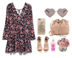 """Floral Life!"" by griselia-miranda on Polyvore featuring MANGO, MR., Casetify, Wildfox, H&M, Diane James, Pink and shoes"