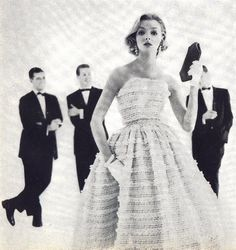 puffy dresses are dreamy 1950s Fashion Trends, Vintage Fashion, Vintage Beauty, Vintage Style, Fashion Ideas, Fashion Quotes, Wedding Styles, Wedding Ideas, Bridal Dresses