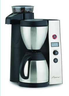 Capresso 455 CoffeeTEAM Therm Stainless Coffeemaker/Burr Grinder Combination ** Quickly view this special product, click the image : Coffee Maker