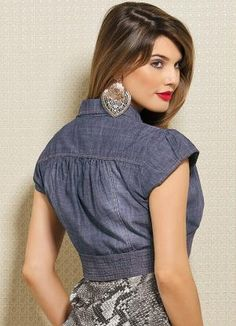 This Pin was discovered by Rag Looks Total Jeans, Suits For Women, Jackets For Women, Girl Fashion, Fashion Dresses, Shrugs And Boleros, Shrug For Dresses, Bolero Jacket, Indian Designer Wear