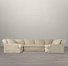 Belgian Classic Roll Arm Slipcovered U-Sofa Sectional - traditional - sectional sofas - by Restoration Hardware U Shaped Couch, Restoration Hardware, Slipcovers, Great Rooms, Room Inspiration, Classic Style, Sweet Home, Arms, New Homes