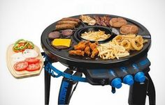 Neat 360 party hub grill fryer. Something between yakiniku and raclette.