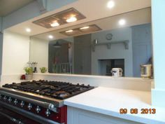 Oversized Toughened Mirrors View more kitchen splashbacks and non-scratch glass worktops on http://www.creoglass.co.uk/kitchen-glass-splashbacks/toughened-mirrors/