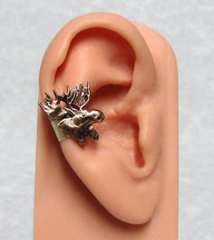 Forest Moose Head Ear cuff by ranaway on Etsy