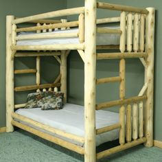 Features: -Northern white cedar logs. -Solid wood construction. -Contemporary rustic Appeal. -Built in ladder. -Bunkie boards sold separately or use with mattress. -Made in the USA. Hardware Fi